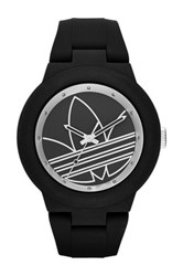 Adidas Unisex Aberdeen Casual Silicone Watch Black And Silver