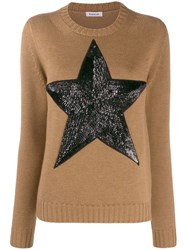 P.A.R.O.S.H. Sequinned Star Jumper Brown