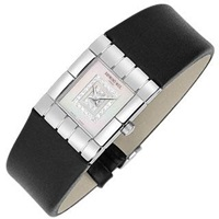 Raymond Weil Tema Ladies' Double Diamond River Leather Watch Silver