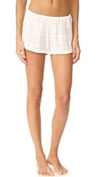 Skin Pj Shorts White