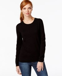Tommy Hilfiger Beaded Crew Neck Sweater Black