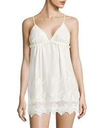 Flora Nikrooz Butterfly Embroidered Camisole Ivory