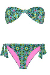 Matthew Williamson Printed Bandeau Bikini Green