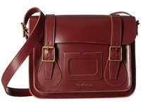Dr. Martens 11 Leather Satchel Cherry Red Satchel Handbags