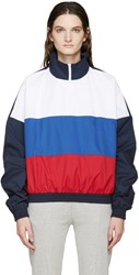 Gosha Rubchinskiy Navy And Tricolor Zip Collar Sport Jacket