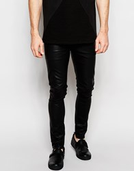 Dark Future Super Skinny Jeans In Black Faux Leather