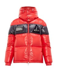 Moncler Gary Lacquered Outer Down Filled Coat Red
