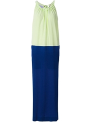 Erika Cavallini Semi Couture Loose Fit Color Block Dress