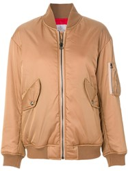 As65 Shoe Lace Bomber Jacket Nylon Polyester Xs Brown