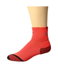 Nike Elite Running Cushion Quarter Bright Crimson Reflective Silver Black Quarter Length Socks Shoes Red
