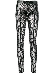 Tom Ford Leopard Printed Leggings Black