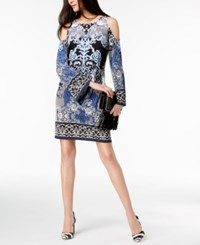 Inc International Concepts I.N.C. Petite Printed Cold Shoulder Midi Dress Created For Macy's Lacey Scroll