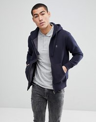French Connection Zip Through Hoodie Navy