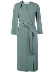 Chalayan Judo Wrap Coat Dress Green