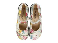 Arcopedico Scala Flowers White Women's Maryjane Shoes Multi
