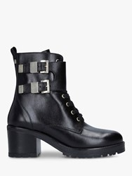 Carvela Spicy Buckle Detail Leather Ankle Boots Black