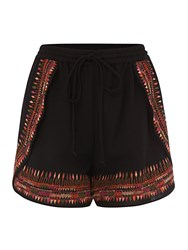 Biba Embroidered Detail Short Black