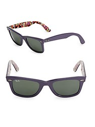 Ray Ban 50Mm Special Series Floral Classic Wayfarer Sunglasses Purple