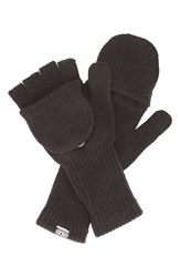 Men's Converse Convertible Knit Gloves Grey Converse Charcoal