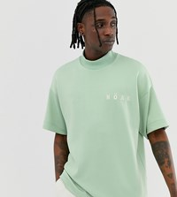 Noak Oversized T Shirt In Teal With Branded Logo Green