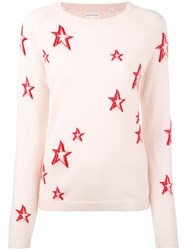 Chinti And Parker Star Sweater Women Cashmere S Pink Purple