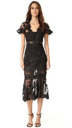 Three Floor Floral Feeling Dress Black