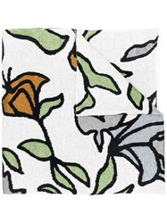 Christian Wijnants Abstract Floral Scarf White