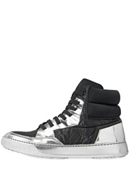 Bb Bruno Bordese Washed 20Mm Textile Mirror Leather Sneakers