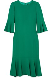 Dolce And Gabbana Ruffled Cady Dress Green