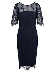 Sugarhill Boutique Grace Lace Dress Dark Blue