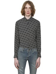 Saint Laurent Cars Printed Viscose Twill Shirt