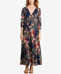 Denim And Supply Ralph Lauren Floral Print Gauze Maxi Dress Print Multi