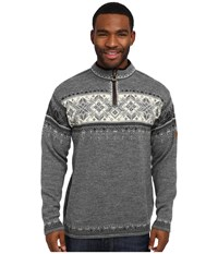 Dale Of Norway Blyfjell E Smoke Dark Charcoal Off White Light Charcoal Men's Sweater Gray