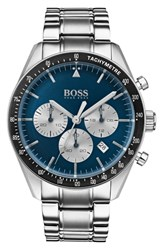 Boss Trophy Chronograph Bracelet Watch 44Mm Blue