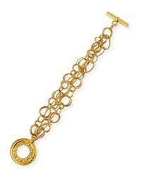 Jose And Maria Barrera 24K Gold Plated Chain Bracelet