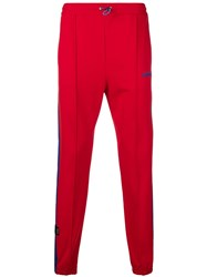 Unravel Project Drawstring Track Trousers Red
