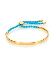 Monica Vinader Fiji 18K Yellow Gold Vermeil And Turquoise Nylon Friendship Bracelet