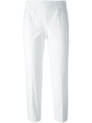 Piazza Sempione Cropped Trousers White