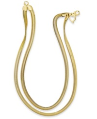 Thalia Sodi Gold Tone Two Row Herringbone Chain Necklace
