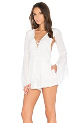 The Jetset Diaries X Revolve Ballerina Romper White