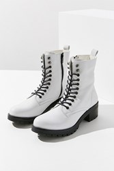 Urban Outfitters Zoe Leather Combat Boot White