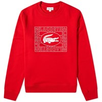 Lacoste Vintage Crew Sweat Red