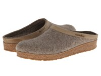 Haflinger Gzl Leather Trim Grizzly Earth Clog Shoes Brown
