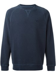 Barbour Garment Dyed Sweatshirt Blue