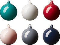 Cb2 Opaque Colored Glass Ornaments Set Of Six