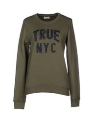 Truenyc. Sweatshirts Military Green