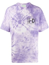 Aries 'No I Dea' T Shirt Purple