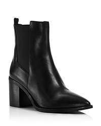Kenneth Cole Quinley Pointed Toe Block Heel Booties Black