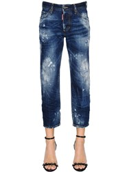Dsquared Destroyed Tomboy Cropped Denim Jeans