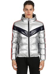 Invicta Hooded Nylon Puffer Jacket Silver
